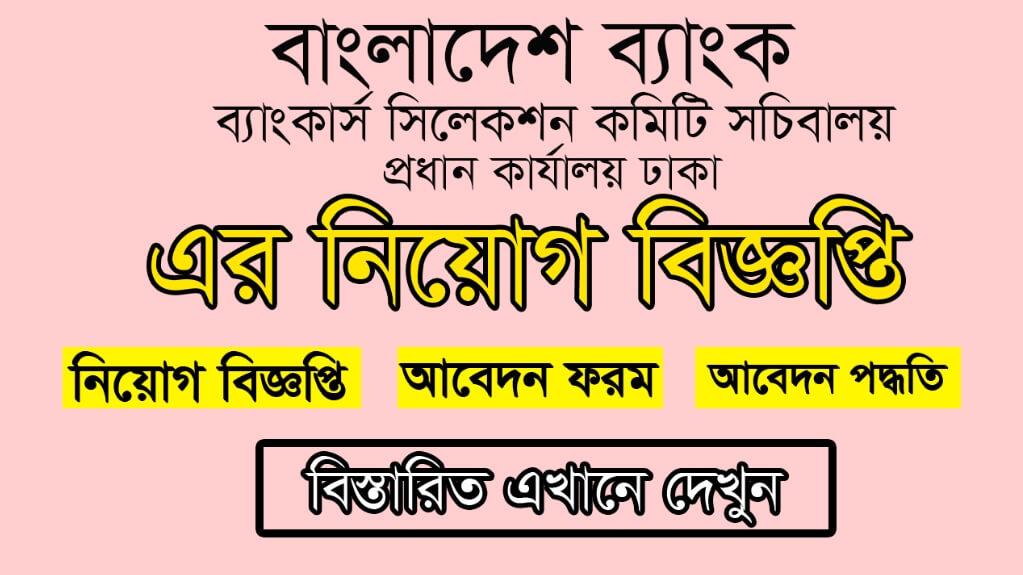 Bangladesh Bank Job Circular 2021 Picture
