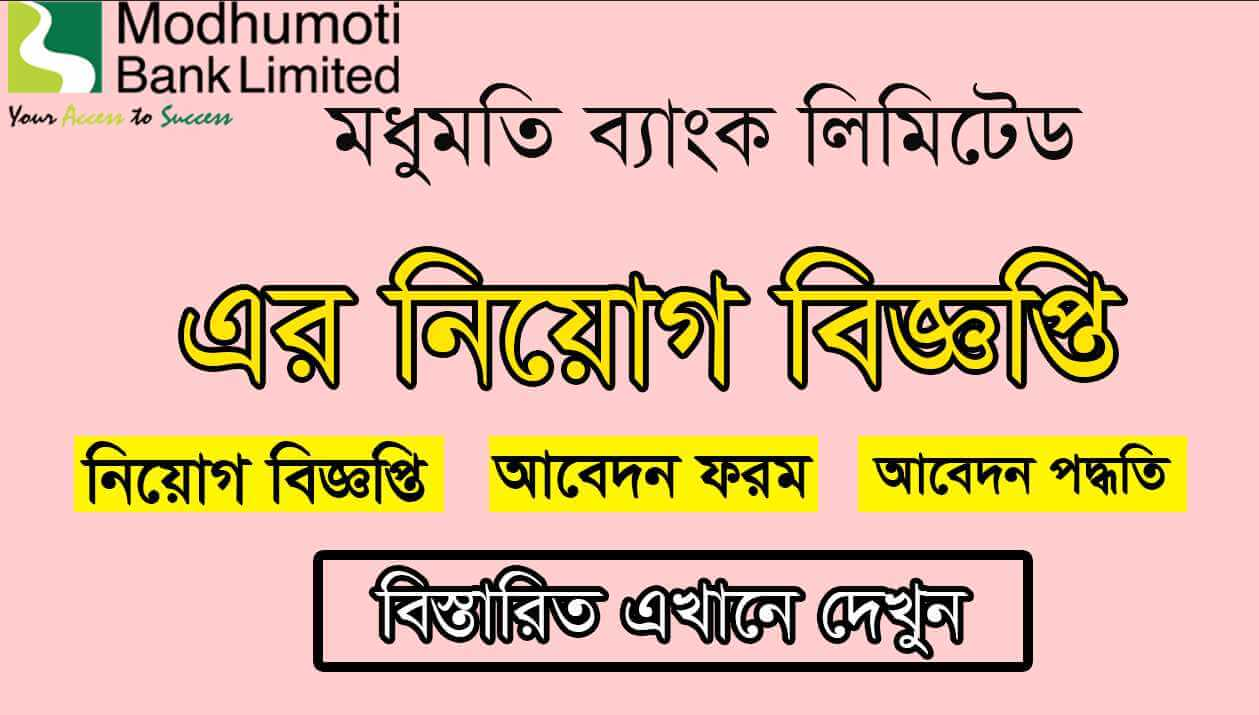 Modhumoti Bank Limited Job Circular 2021 Picture