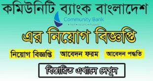 Community Bank Job Circular 2021 Picture