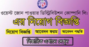 WZPDCL Job Circular 2021 Picture